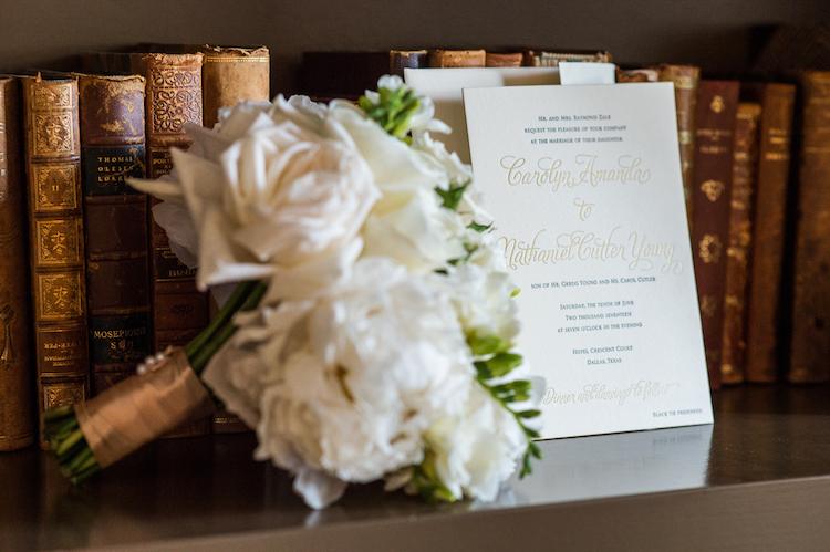 Zale Wedding Invitation and Bridal Bouquet