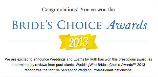 Brides Choice Award 2013