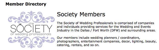 Society of Wedding Professionals