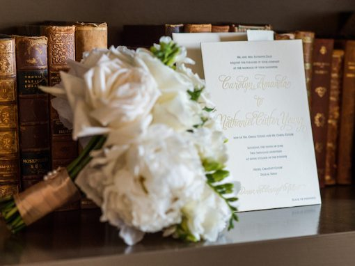 Zale Wedding Invitation and Bridal Bouquet