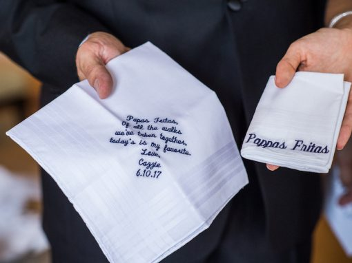 Zale / Personalized Wedding Hankies