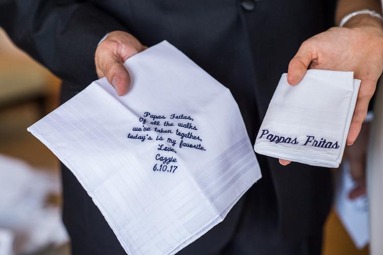 Zale / Personalized Wedding Hankies