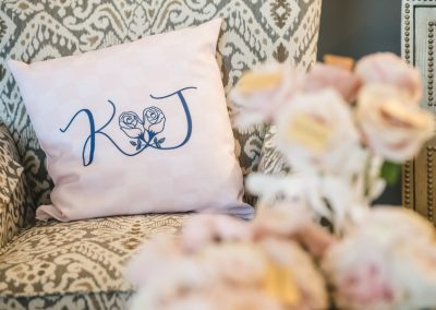 A Personalized Monogramed Pillow