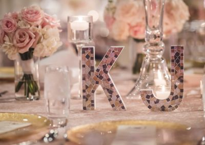 Add monogram touches to the table