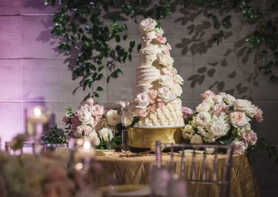 The Wedding Cake by Small Cakes Cupcakery, repurposed flowers from the Chuppah